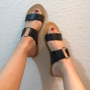 New Topshop Black Sandals 7